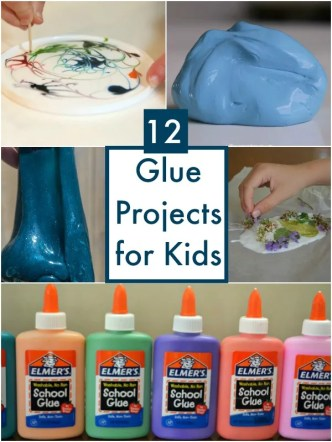12 projects for Kids using GLUE - simple and fun ideas to try using a basic craft supply!