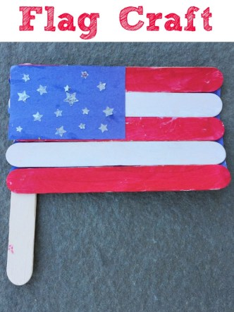 Cute and simple flag craft for kids! Make a craft stick flag!