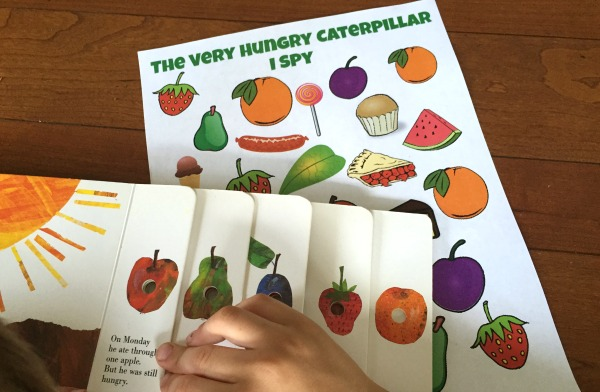 I Spy Printable for The Very Hungry Caterpillar by Eric Carle