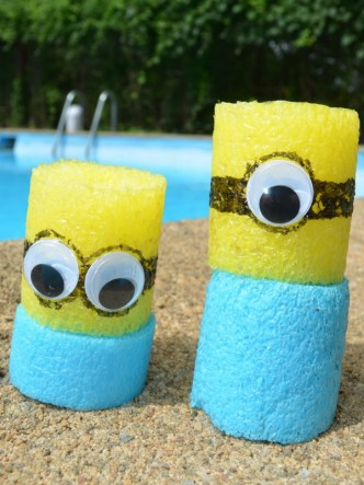 Make Minion Blocks from pool noodles! Cute minion craft!