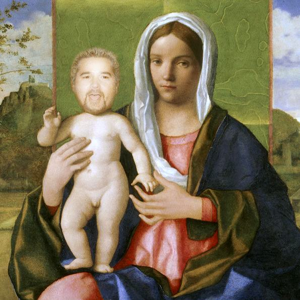 Falling Down Wallpaper Guy Fieri As Renaissance Babies Is So Horrendous You Can T