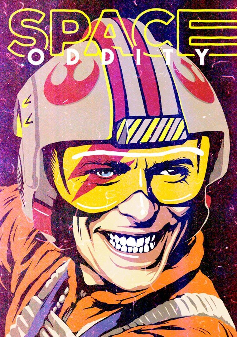 Power Pop Girl Wallpaper David Bowie Pop Culture Mashup Illustrations 26 Pics