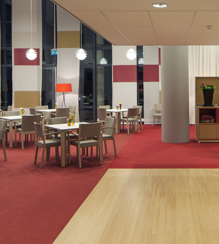 Central Hall And Common Activity Room Engineered Hardwood