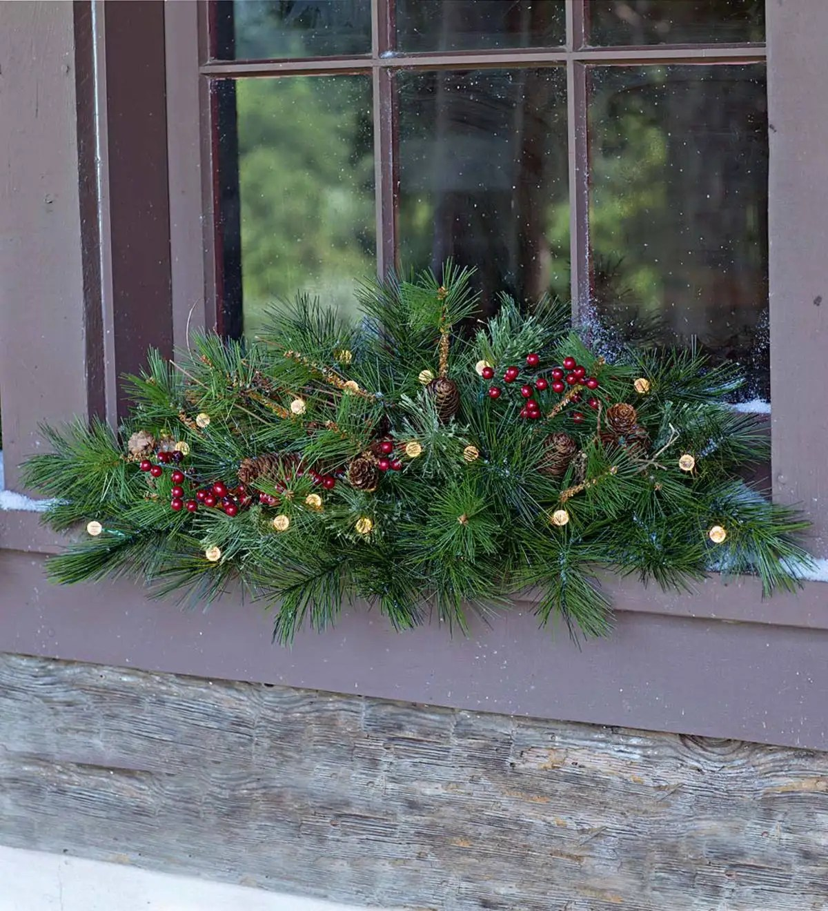 Outside Window Sill Christmas Decorations Chirstmas Decor