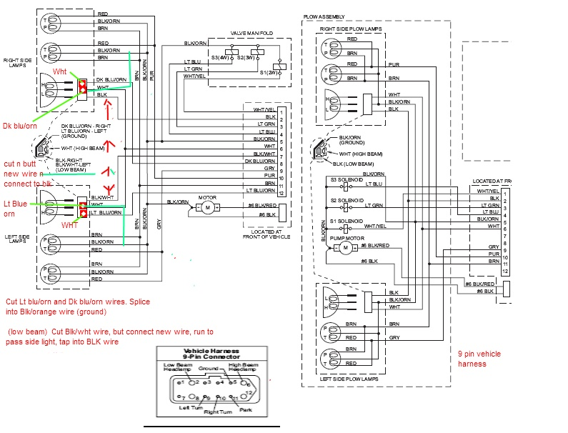 western 9 pin wiring harness diagram