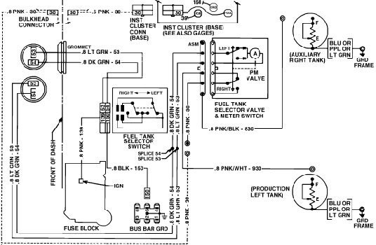 chevy dual fuel tank wiring diagram
