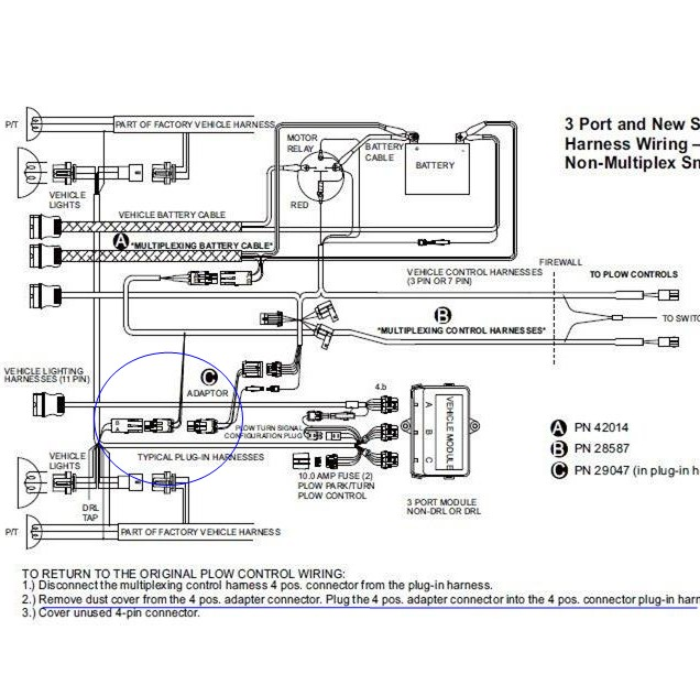 wiring schematic for fisher 2 plug plow