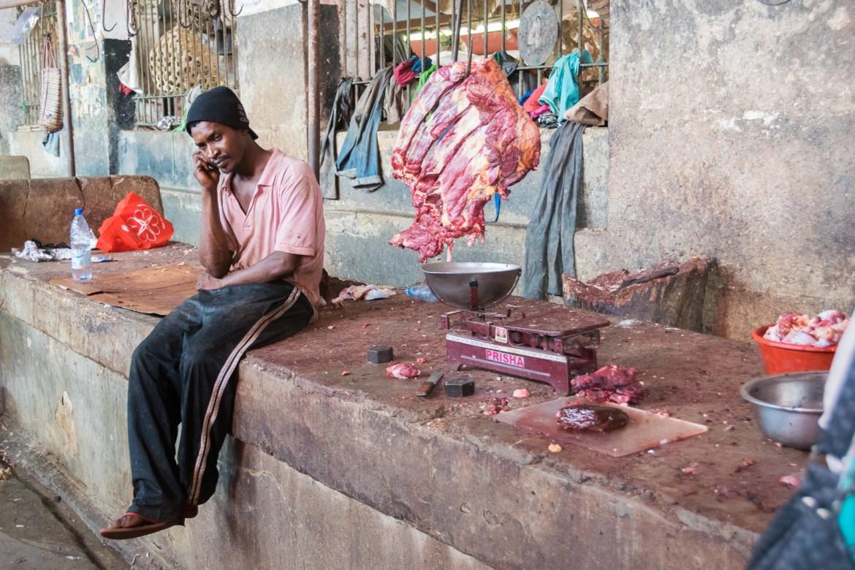 Zanzibar, Africa, meat, market