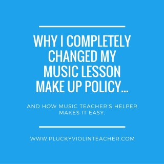 Sick of spending all of your free time scheduling and enforcing your music lesson make up policy? Here's the solution...