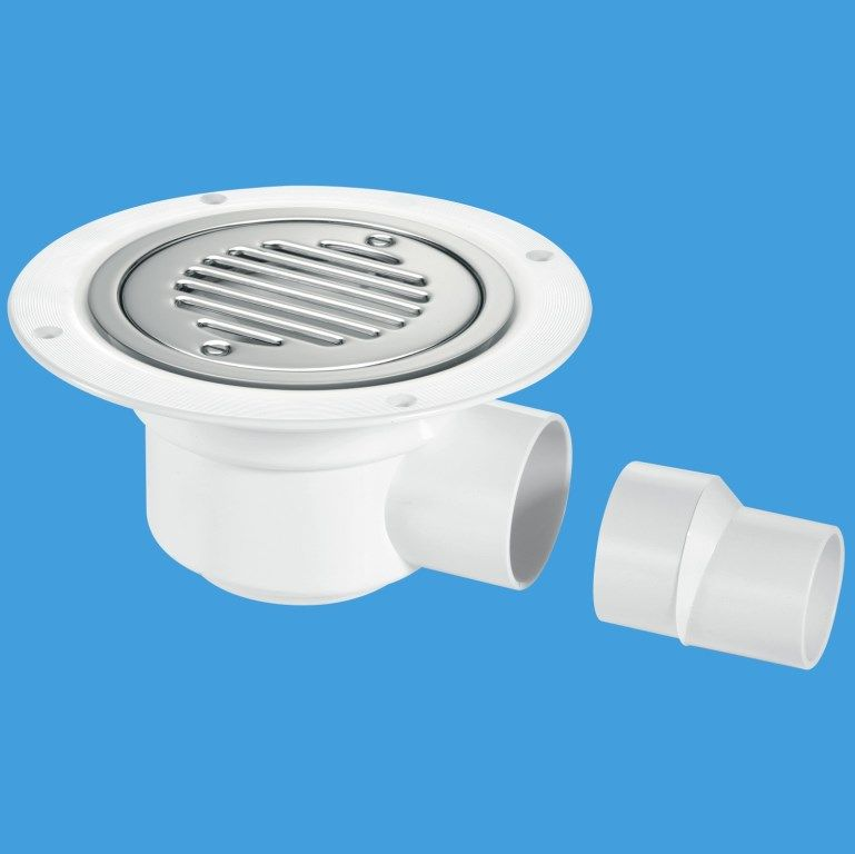 50mm Seal Wet Room Gully Trap With Grid For Sheet Floor