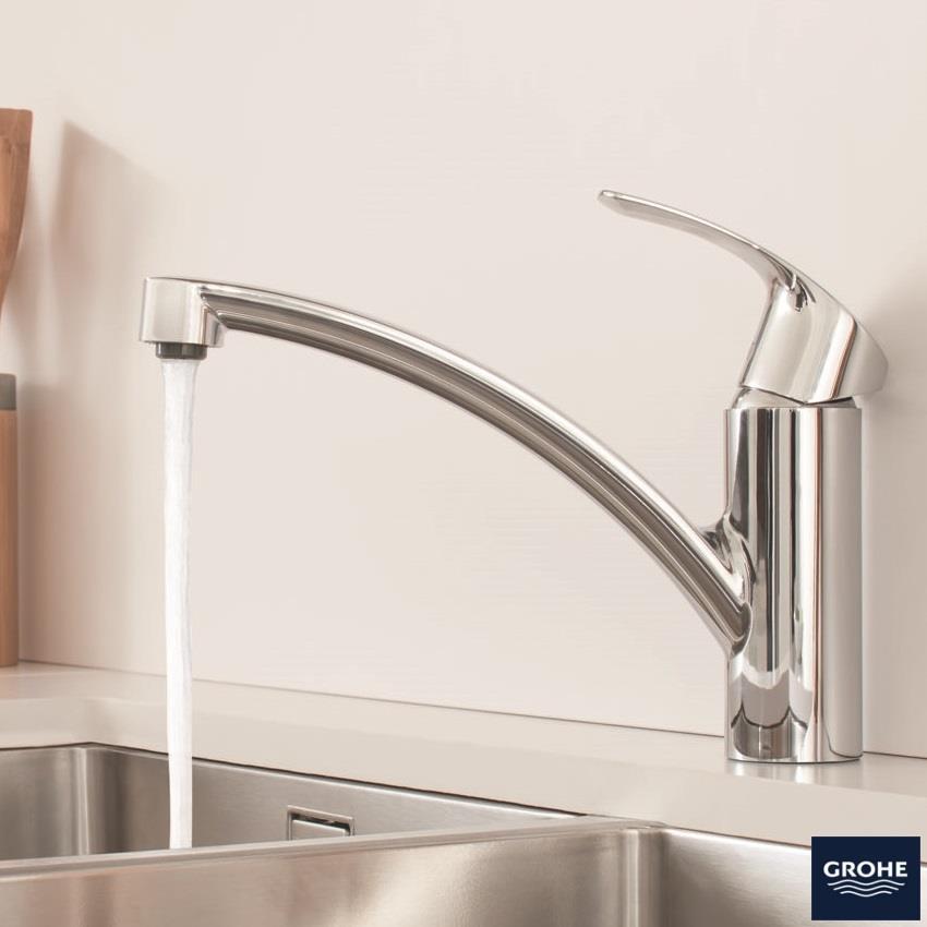 Grohe Eurosmart Monobloc Kitchen Sink Mixer Low Spout