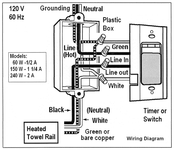 electric shower switch wiring diagram