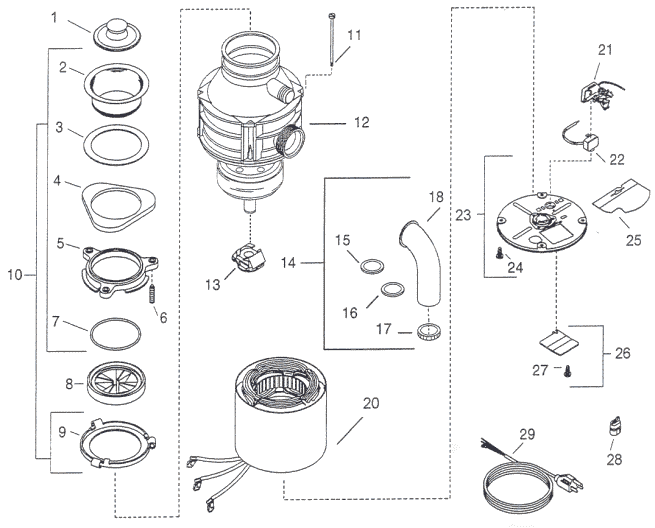 garbage disposal wiring schematic
