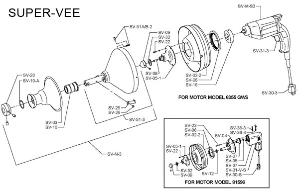 general super vee drain cleaner parts and diagram