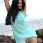 Young Hot Girl Anshu Sexy Navel And Thighs In Mini Skirt