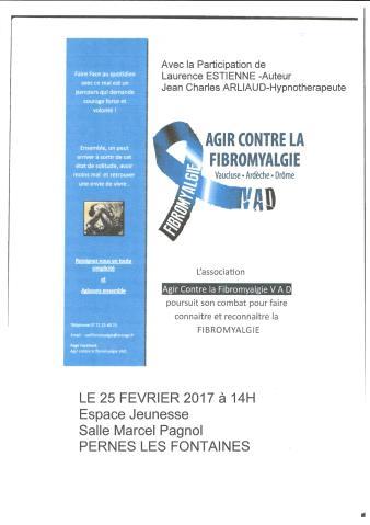 Affiche Agir contre la fibromyalgie 25 février 2017