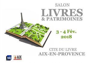 Affiche salon Livres & Patrimoines 4 fév 18 Aix