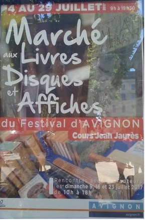 Marché livres festival Avignon 2017