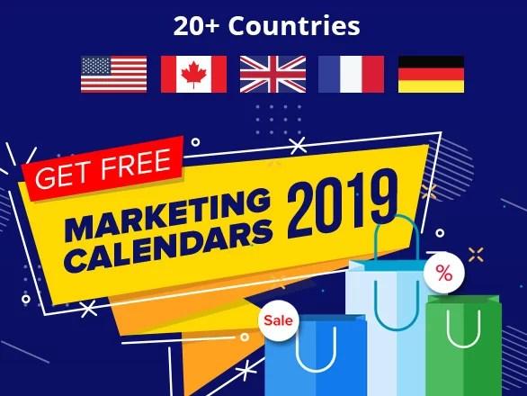 Free Marketing Calendars 2019 Plumrocket Inc Blog