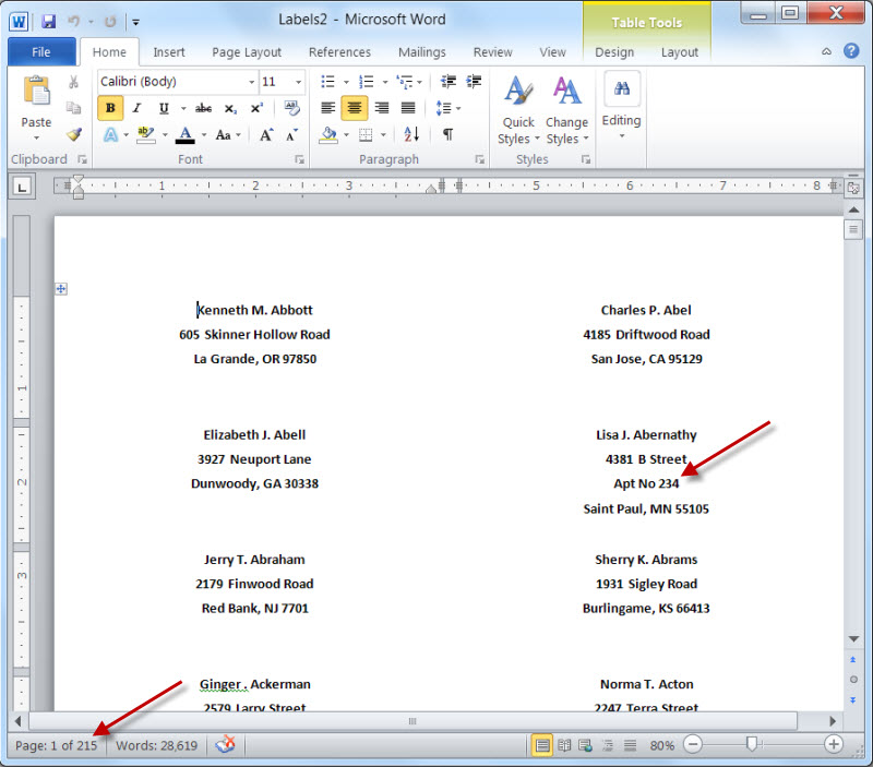 Mail Merge for Dummies Creating Address Labels using Word and Excel