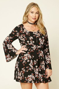 Plus size floral dress - Plus Size Clothing