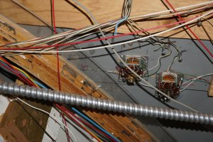 Wiring under the layout