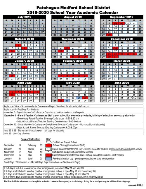 Board of Education approves 2019-2020 School Year Student Calendar