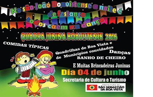 FESTA JUNINA BOAVISTENSE ANO 2016