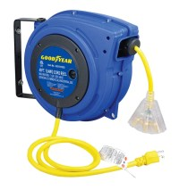 Cord goodyear retractable air hose reel with LED lighted ...