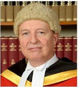 Justice Derek Hartshorn - one of the three Supreme Court Judges that overturned Justice Makail's decision today