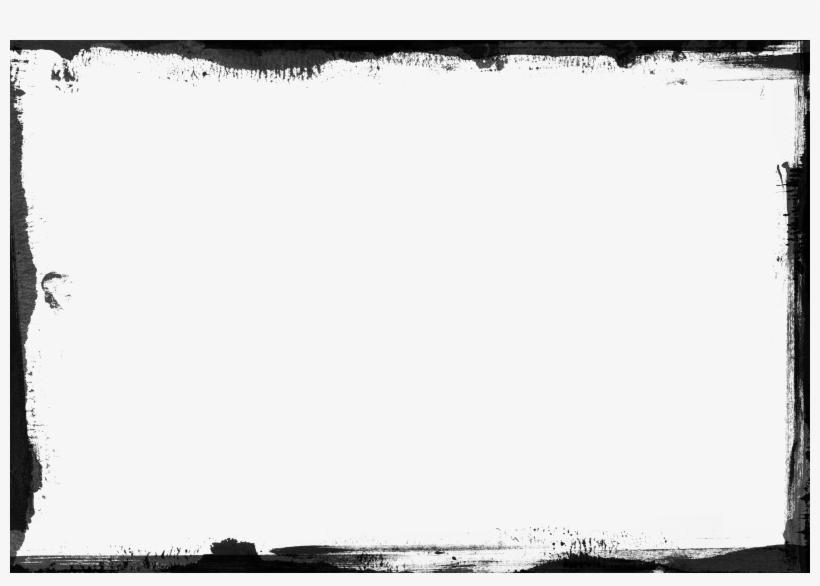 Retro Black Border Template - White Background With Black Border