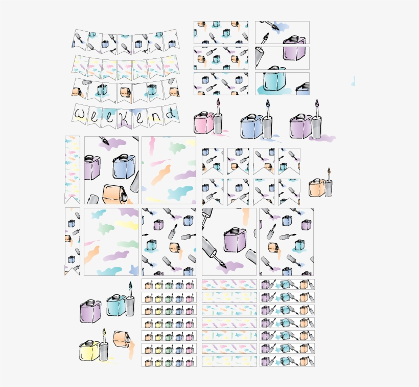 Digital Planner Stickers Free - Free Transparent PNG Download - PNGkey