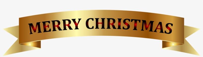 Golden Merry Christmas Banner Png Clip-art Image - Gold Merry