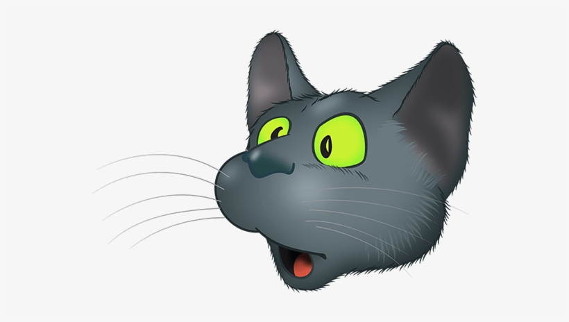 Download Black Cat Emoji Messages Sticker-3 - Cat PNG Image with No