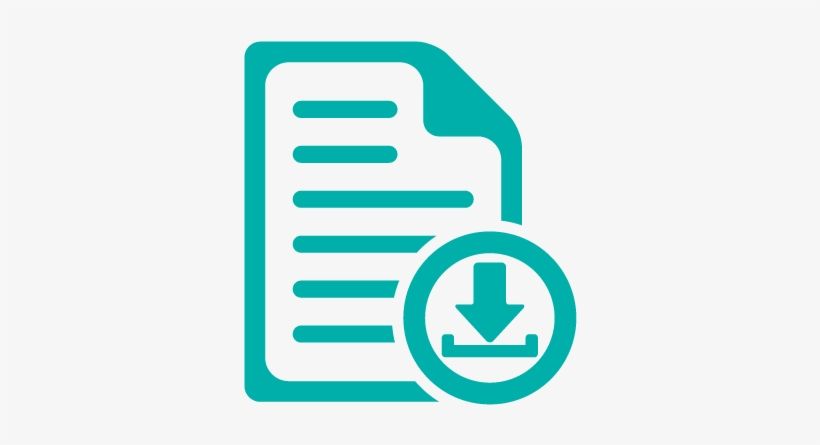Icon Document Download Teal - Upload Your Resume Icon - Free