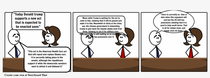 Cnn Student News Comic Strip - Storyboard - Free Transparent PNG