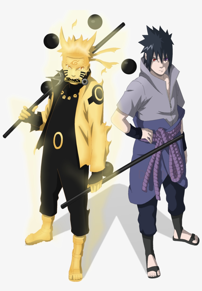Power Of The Six Paths Sasuke Rinnegan - Naruto And Sasuke Png, transparent png #