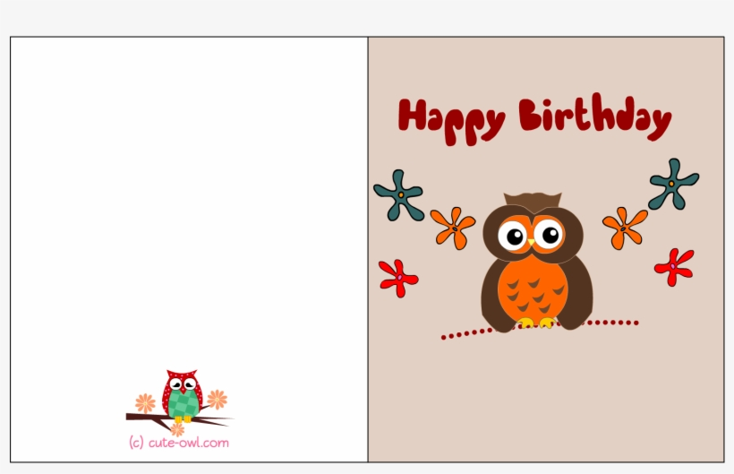 Free Printable Cute Owl Birthday Cards - Printable Owl Birthday Card
