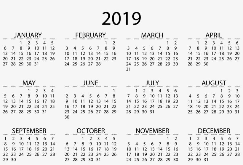 Open Your 2019 Calendar - August Small Calendar 2018 - Free