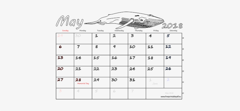 May 2018 Calendar Template May 2018 Calendar Printable - Calendar