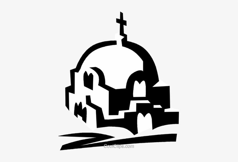 Greek Church Royalty Free Vector Clip Art Illustration - Greek