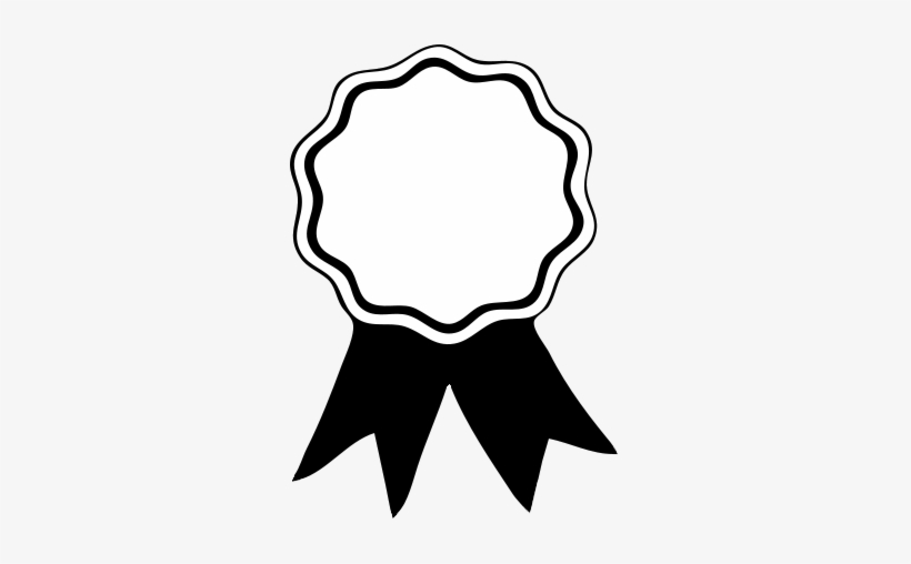 Certificate Clipart Black And White - Award Ribbon Template - Free