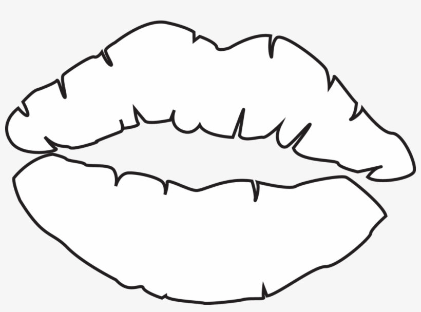 Printable Lips Template Outline - Kiss Lips Coloring Page - Free