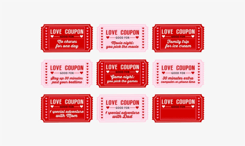 Free Printable Love Coupons For Kids On Valentine 39 - Love Coupons
