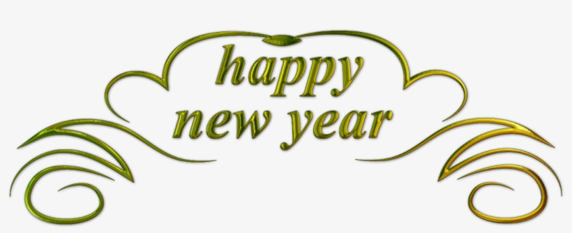 Happy New Year Text 3 - Happy New Year Png Text - Free Transparent