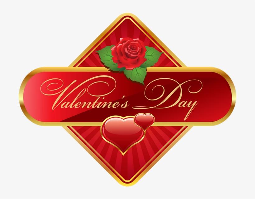 Happy Valentine\u0027s Day Label Png Clip Art Imageu200b - Valentine\u0027s
