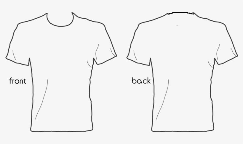White T Shirt Front Back - Blank Shirt Template Png - Free