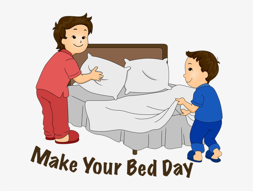 Make Bed Clipart - Make Up Bed Clipart - Free Transparent PNG