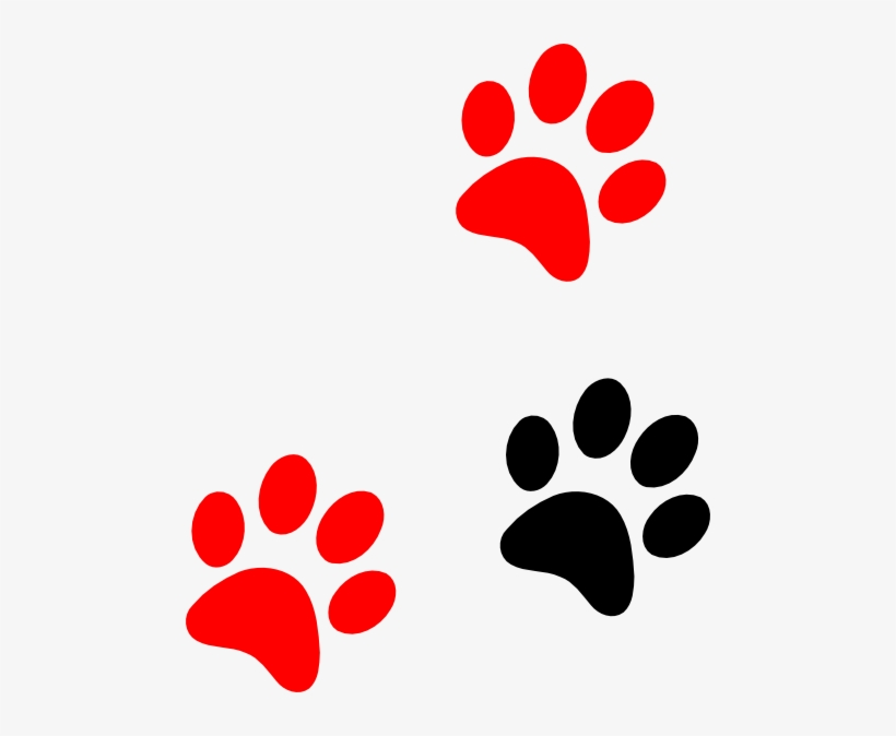 Tiger Paw Template Printable - Red Lion Paw Print - Free Transparent