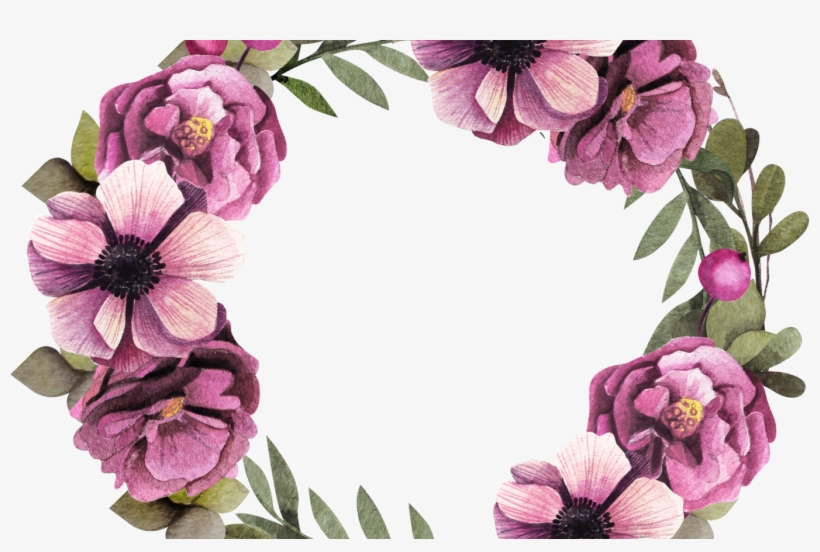 Floral Design Wreath Flower Garland Purple Purple Flower - Floral